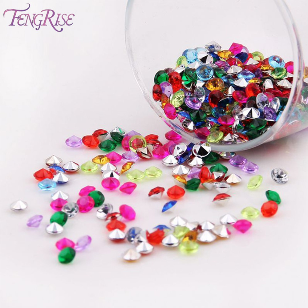 FENGRISE 1000PS 4 5mm Wedding Decoration Crafts Diamond Confetti Table Scatters Clear Crystal Centerpiece Party Festive