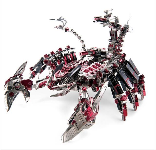 Dragão de metal jigsaw puzzle brinquedo do enigma 3d DIY modelo de montagem adulto meninos e meninas presentes de natal
