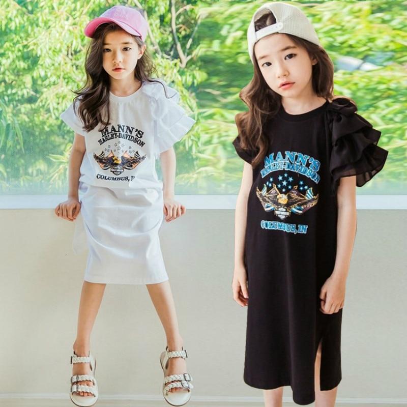 2019 Summer Children's Dress Girls' Cotton Dress Elastic Kids Casual Dress Brand Baby Pattern Long Dress Parents Children,#2812