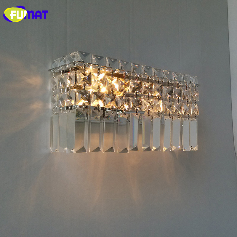 FUMAT Modern Crystal Wall Lamp Bedroom Home lighting  Aisle Corridor Wall Sconce Luxury Living Room Wall sconce Lights Kithen bedside wooden wall lamp wood glass aisle wall lights lighting for living room modern wall sconce lights aplique de la pared
