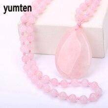 Здесь можно купить  Yumten Men Necklace Rose Quartz Pendant Women Jewelry High End Sweater Chain Gift Collier Colar Chain Bijoux Sailor Moon Satan