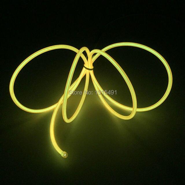3,2mm Blinkt 10 Farbe Wahl El drahtseil schlauch Flexible Neon Licht ...
