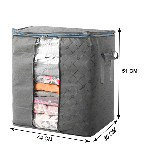 Beau TTLIFE Antimicrobial Non Woven Fabric Storage Bag Extra Large Bamboo  Charcoal Housing Home Storage Organization