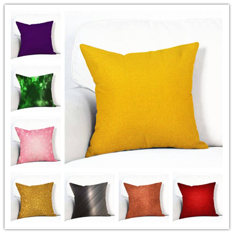 Fashion Multicolor Linen Cotton Cushion Cover Print 45*45cm Pillow Case with Zipper for Sofa Bed Chair Decor Capa De Almofada