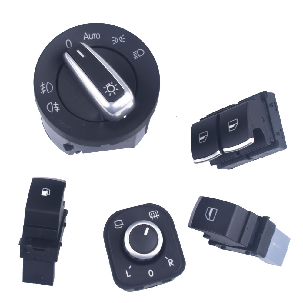For <font><b>VW</b></font> Eos <font><b>Golf</b></font> MK5 MK6 <font><b>GTI</b></font> Scirocco Polo Rabbit 2 Door Window Headlights AUTO rearview mirror Switch image