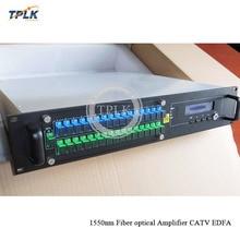 Алиэкспресс Лидер продаж CATV EDFA 16 портов 16/17/23dbm оптический усилитель 16 портов WDM EDFA FTTH оптический высокой мощности 1550nm 23dbm 2U