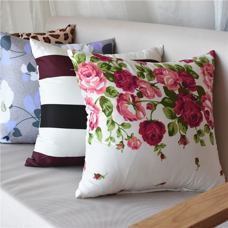 2018 40*40cm Family Cushion Cover Soft Plush Pillow Case Home Room Office Decoration Back Throw Sofa Cushion Cover