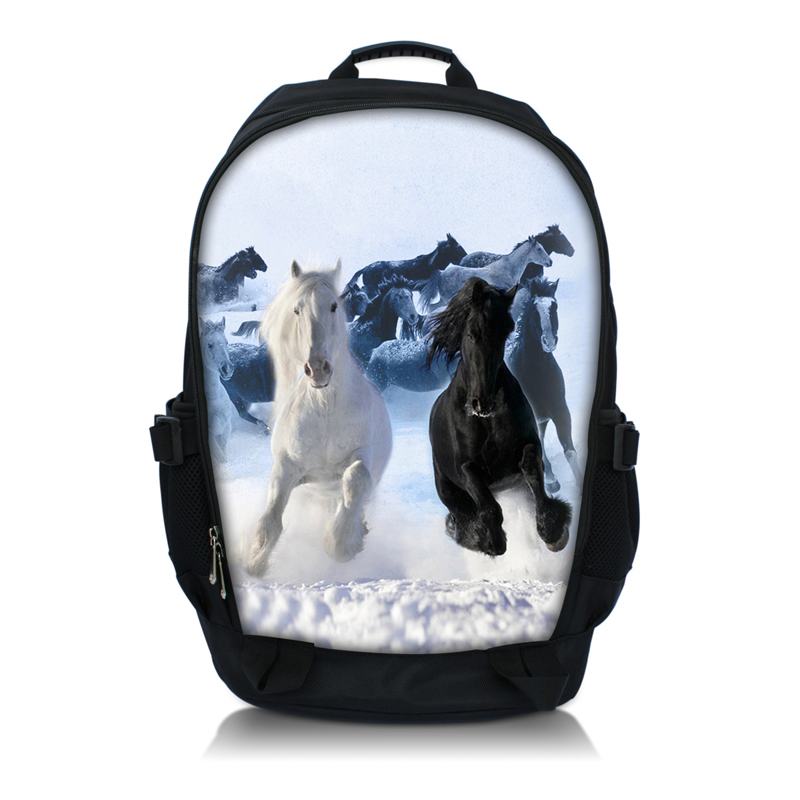 Horse 15.6 Laptop Bag School Backpack Notebook Shoulder Bag Backpack Rucksack Large Capacity Travel Bag For Student Teenagers men backpack student school bag for teenager boys large capacity trip backpacks laptop backpack for 15 inches mochila masculina