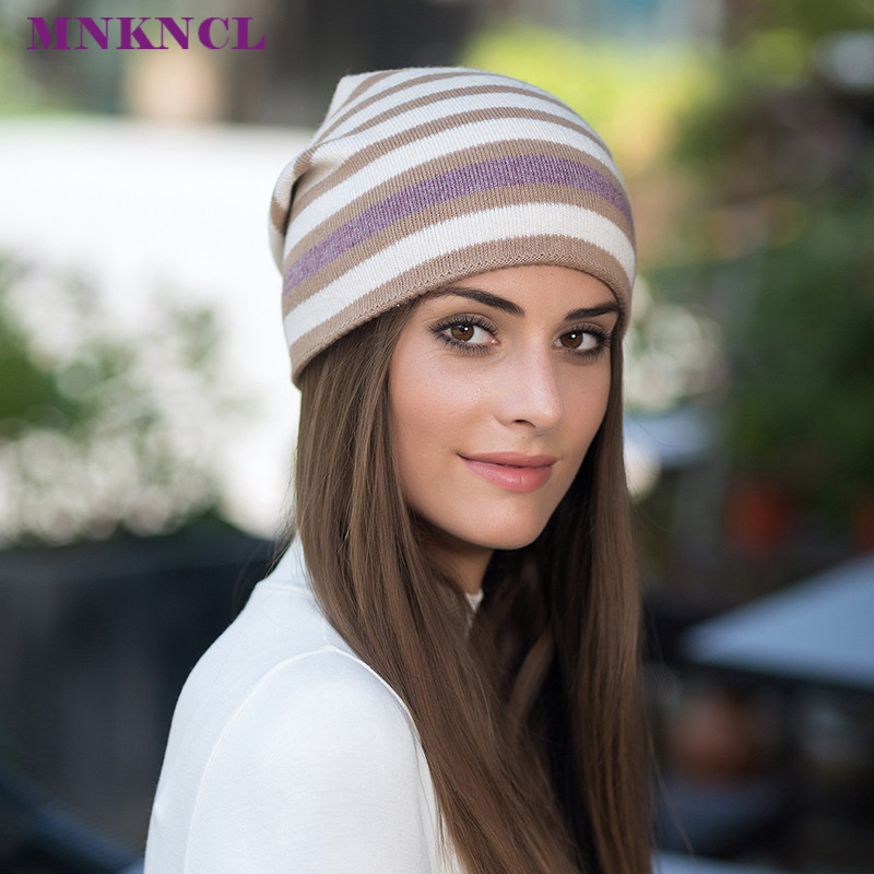 2017 New Winter Hats For Women Solid Cashmere Asymmetrical Knitted Vogue Brand Casual Warm Hat Female Skullies Beanies Bonnet brand kenmont new summer hats for women 100