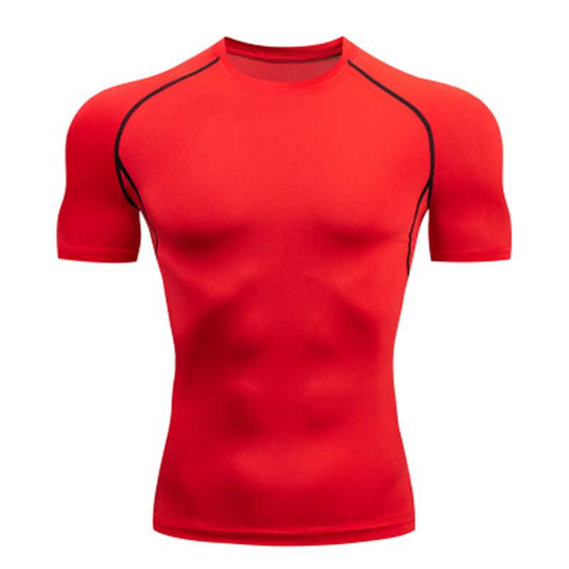 2019New Kompresi Kemeja Pria 3D Cetak T-shirt Lengan Pendek Kebugaran Fit CrossFit Top MMA K Berlaku Merek t-shirt