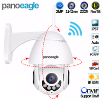 Panoeagle WIFI Camera Outdoor PTZ IP Camera 1080p Speed Dome CCTV Security Cameras IP Camera WIFI Exterior IR Surveilance Camera