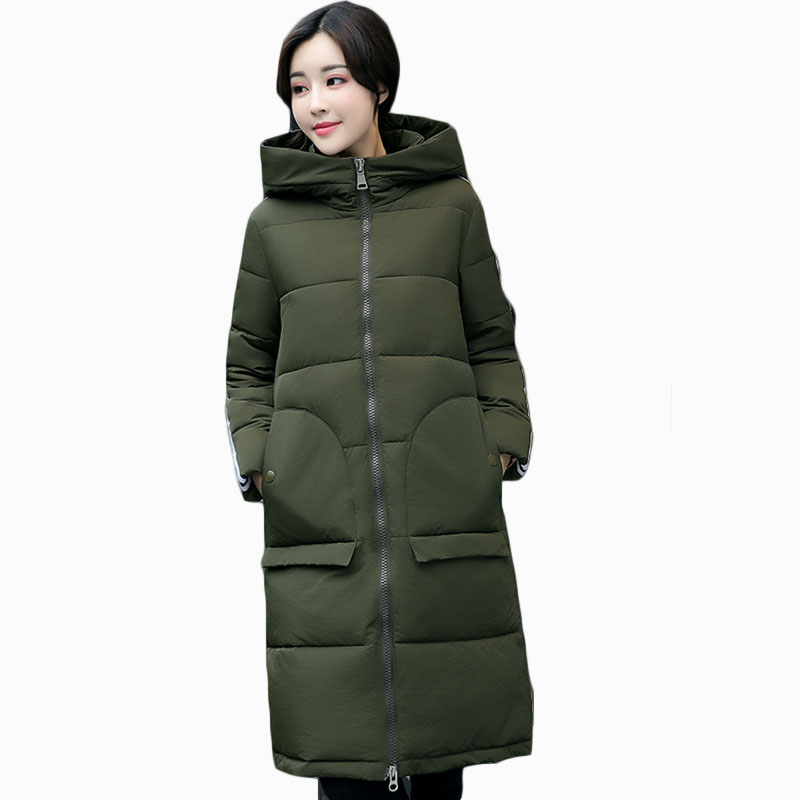 2017 NEW HOT WOMEN WINTER JACKER PLUS SIZE MID-LENGTH PLUS SIZE HOODED THICK WARM FEMALE ...