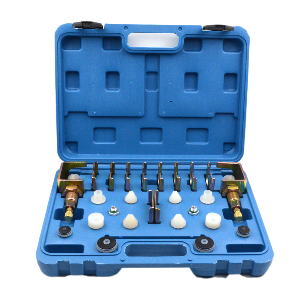 Universal A/C Flush Fitting Adapter Kit / Leak Testing Tool Blue Box Car Air Conditoning Tool for Auto AC Conditioner Repairing