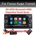 Черный Рояль 7 дюймов Емкостный Сенсорный Экран Dvd-плеер Автомобиля для Ford Focus Kuga Транзит 3 Г Bluetooth Радио RDS USB SD Бесплатный камера