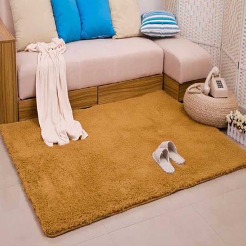 Новая мода Хаки пушистые коврики противоскользящая ворсистая зона гостиная ковер для спальни толстый коралловый бархат коврик LOSICOE-S10