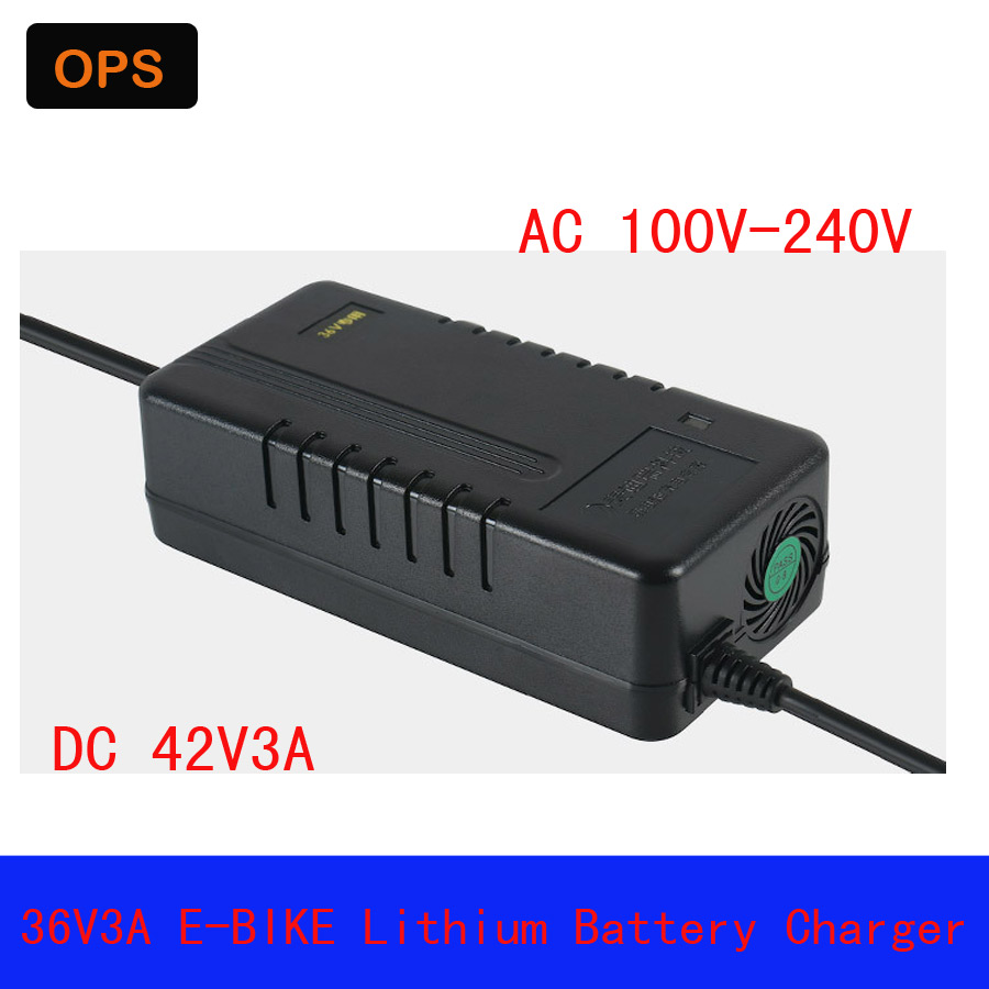36V3A Output 42V 3A Universal Charger E-Bike Lithium battery Li-Pro Li-ion Wheel Scooters Drifting Board Electric Charger
