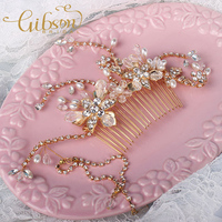 Free Shipping Crystal And Rhinestone Bridal Hair Comb Wedding Headpiece
