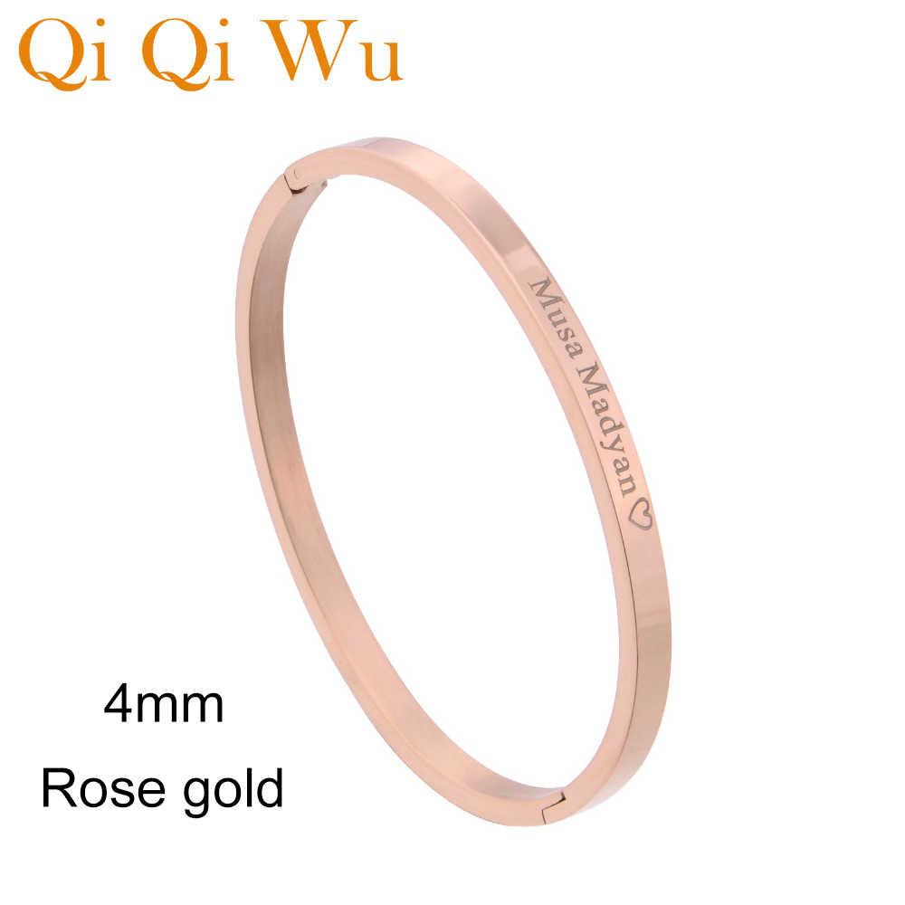 На заказ Выгравированный женский браслет на руку, браслет, персонализированный золотой браслет на руку, браслеты из нержавеющей стали, браслет на запястье, ювелирные изделия, подарки