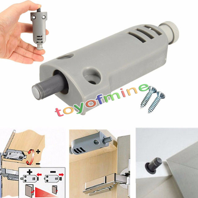 Gray Kitchen Cabinet Door Stop Drawer Soft Quiet Close Closer Damper  Buffers With Screws