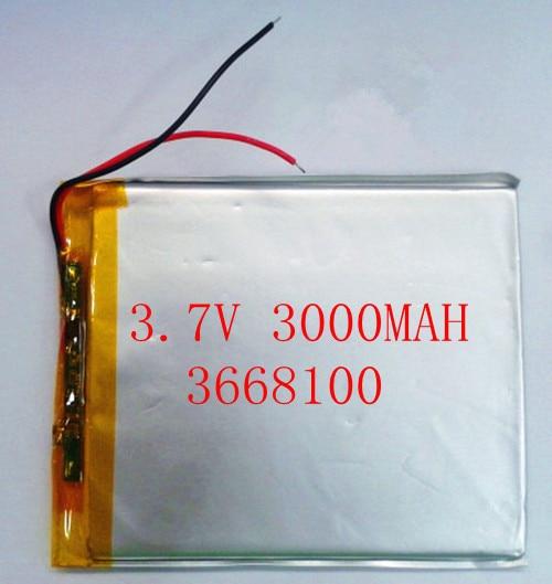! 3.7V 3000mAh 3668100 Polymer Lithium Li-Po Rechareable Battery For DIY Mp3 MP4 MP5 PS e-book
