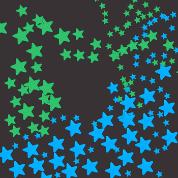 100pcs Fluorescent Glow In The Dark Stars  1