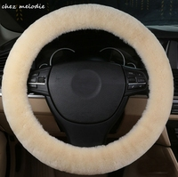 2cm thickness light colors Universal Natural GREEN DYE Australian pure sheepskin wool fur cover for car steering wheel 35 43cm