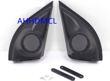 Szyny głośnikowe do montażu głośników samochodowych uchwyty gumowe drzwi kątowe do Vezel XRV 2013 2014 2015 2016 2017 2018 tanie i dobre opinie Skrzynek głośnikowych Black AHHDMCL ABS+PC+Metal 0 16kg Car audio door angle gum tweeter refitting
