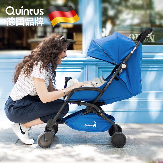 O Alemão Quintus Quintus ultra portátil guarda-chuva carro carrinho de bebê pode se sentar e deitar no avião de carrinhos de bebê