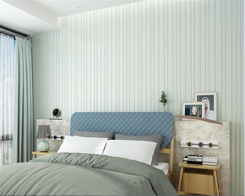 Beibehang Simple moderne vertical rayures plaine non-tissé papier peint salon fond papel de parede papier peint 3D boutique pleine