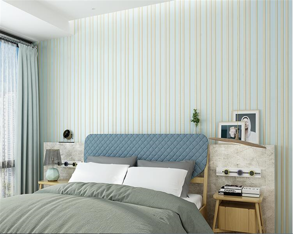 beibehang Simple modern vertical stripes plain nonwoven wall paper living room background papel de parede wallpaper 3D full shop wallpaper modern anchos travelling boat modern textured wallcoverings vintage kids room wall paper papel de parede 53x1000cm