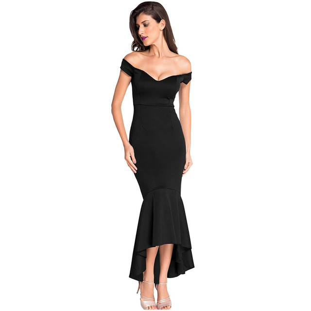 cc234d89c22 2018 Summer Party Dress Women Sexy Black Off Shoulder Long Bandage Dress  Vintage Backless Mermaid Maxi Dresses Longo Vestidos
