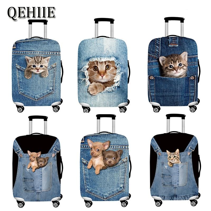 524f06554 Cubierta de protección de equipaje de viaje con patrón Animal 3D maleta de  18-32 pulgadas funda elástica fundas con ruedas accesorios de viaje