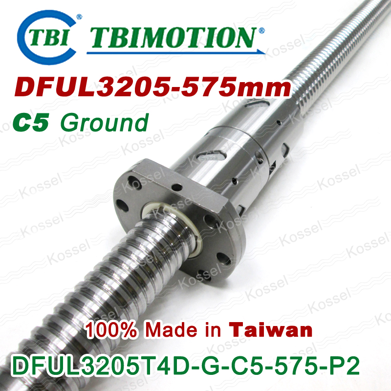 TBI 3205L left Rotation 575mm Customized Grinding Ballscrew DFU3205 ball screw with one Double ball nut  diy CNC machine горелка tbi sb 360 blackesg 3 м