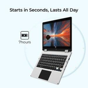 "Image 3 - 2 in 1 Converteerbare Intel Atom 1080 IPS Touchscreen Laptop 11.6 ""Windows 10 Ultraslim Notebook 4GB RAM 64GB ROM 128GB Micro SD"