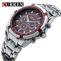 Curren Mens Watch Fashion Steel Sheet Trend Quartz Watch Vintage Table Male Watch Waterproof Stainless Steel