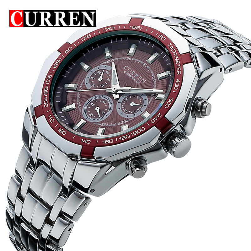 CURREN Top Brand Luxury Mens Quartz Sports Watches Military Wrist Watches Casual Full Steel Men Watch Waterproof Reloj RelojesCURREN Top Brand Luxury Mens Quartz Sports Watches Military Wrist Watches Casual Full Steel Men Watch Waterproof Reloj Relojes