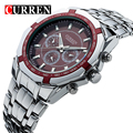 CURREN Top Brand Luxury Men's Quartz Sports Watches Military Wrist Watches Casual Full Steel Men Watch Waterproof Reloj Relojes