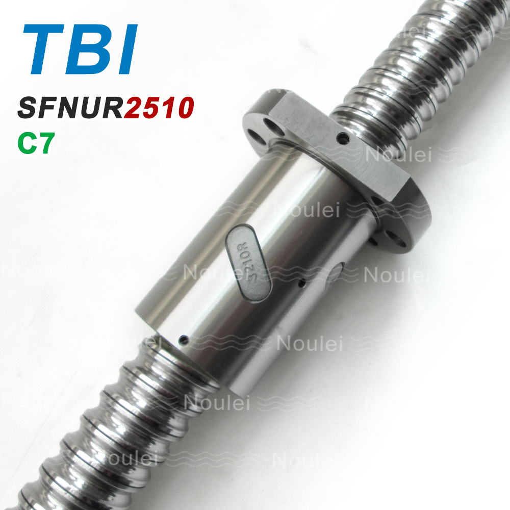 TBI Motion C7 2510 Ballscrew 500mm 800mm with SFU2510 Ball nut 10mm Lead Ball Screw SFNU2510 freeshipping brass 10 inch led shower head led shower temperature led water led bathroom faucet shower