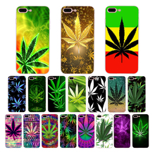 Soft phone Accessories Case Abstractionism Art high weed Luxury cover for iPhone 8 7 6S 6 Plus X XS MAX XR 5S 5 SE Coque Shell