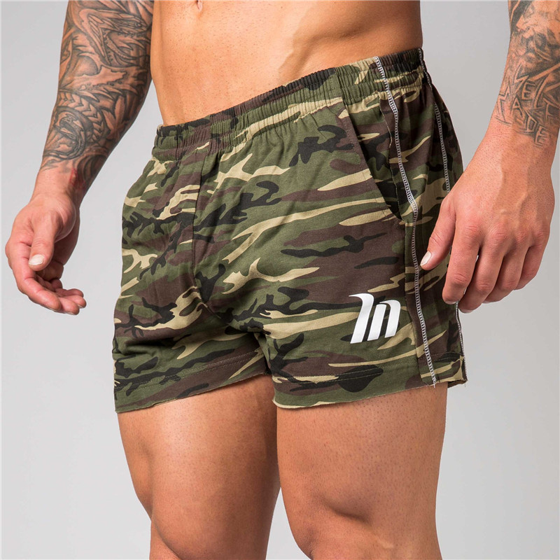 Mens Camouflage Cotton <font><b>Shorts</b></font> Summer Beach <font><b>Cool</b></font> <font><b>Short</b></font> <font><b>Pants</b></font> Male Gyms Fitness Workout Bodybuilding Jogger Crossfit Sportswear image