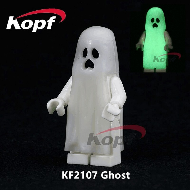US $0 83 8% OFF|KF2107 The Horror Theme Movie Halloween Building Blocks  Moonlight Glow Ghost The Ring Sally Bricks Action Children Gift Toys -in