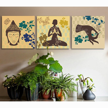 2017 Special Offer Hot Sale Yoga Museum Hang Painting India For Buddha Beauty And Health Decorative Mural Modern Living Room