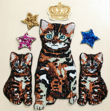 Gatos n estrelas applique bordado remendo do vintage acessórios vestido de moda patches para roupas decoração applique parches ropa