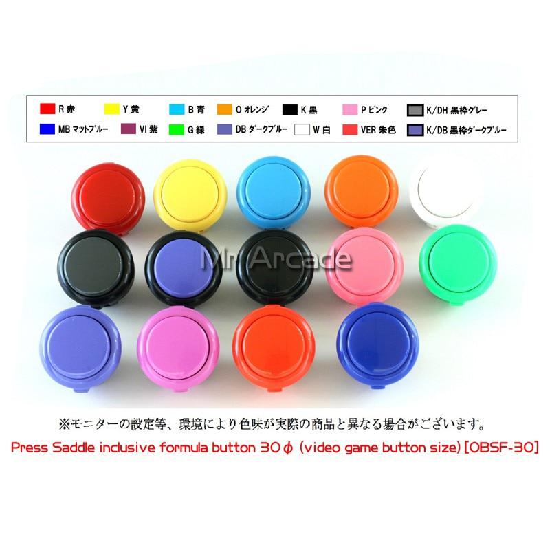 1 pçs original sanwa rocker sanwa 30mm botão interruptor de botão OBSF-30 original sanwa botão