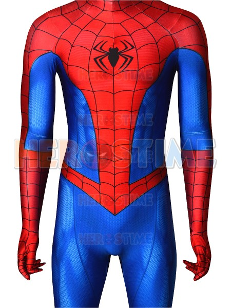 PS4 Spider Man Costume Classic Spiderman 3D Print Superhero Cosplay Costume for Halloween Party Hot Sale