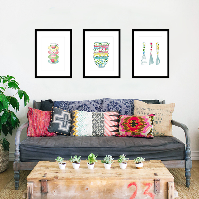 Cucina moderna digital print poster arte della tela di canapa ...