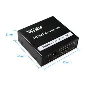 Image 4 - Rozdzielacz HDMI 1X2 HDMI 1 wejście 2 wyjście pełne HD1080p z zasilaczem do Audio HDTV 1080P Vedio DVD