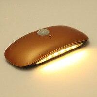 Wireless Montion Detector PIR Infrared Sensor LED Wall Light Bedroom Bathroom Infrared Sensor 6 SMD LED Rechargeable Lamp