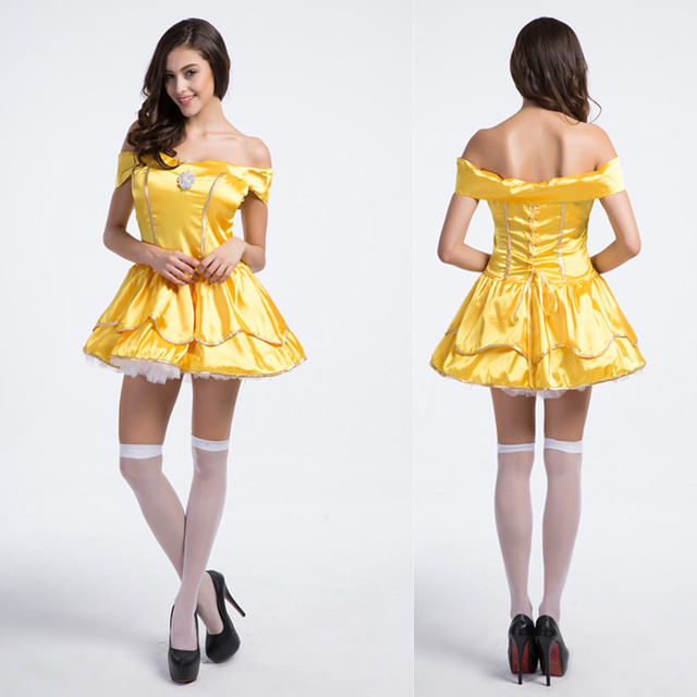 FREE SHIPPING Adult Halloween dresses Snow White COSPLAY Princess Belle Costume Sexy female adult princess belle  sc 1 st  AliExpress.com & FREE SHIPPING Adult Halloween dresses Snow White COSPLAY Princess ...