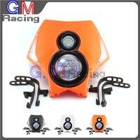 Universal LED Headlights Headlamp For KTM XC XCF XCW XCWF EXC EXCF SX SXF 250 300 350 400 450 500 520 525 530 Off Road Moto